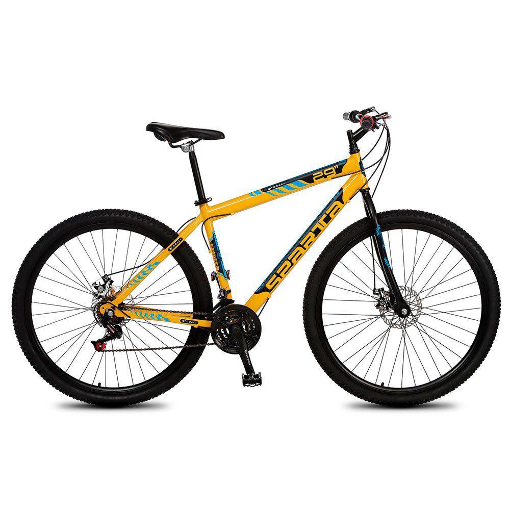Bicicleta Colli Sparta MTB Aro 29 Freio Disco 21 Marchas Laranja Neon