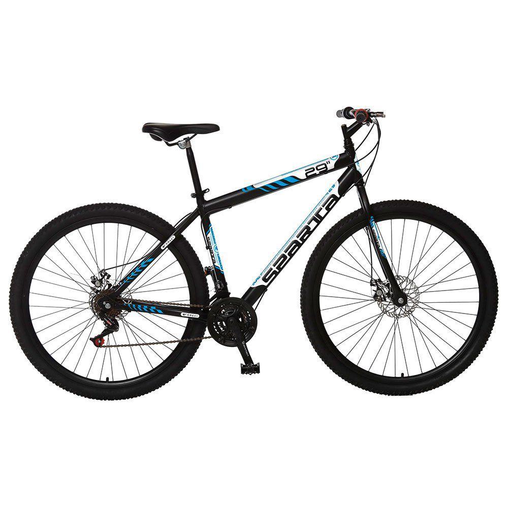 Bicicleta Colli Sparta MTB Aro 29 Freio Disco 21 Marchas Preto
