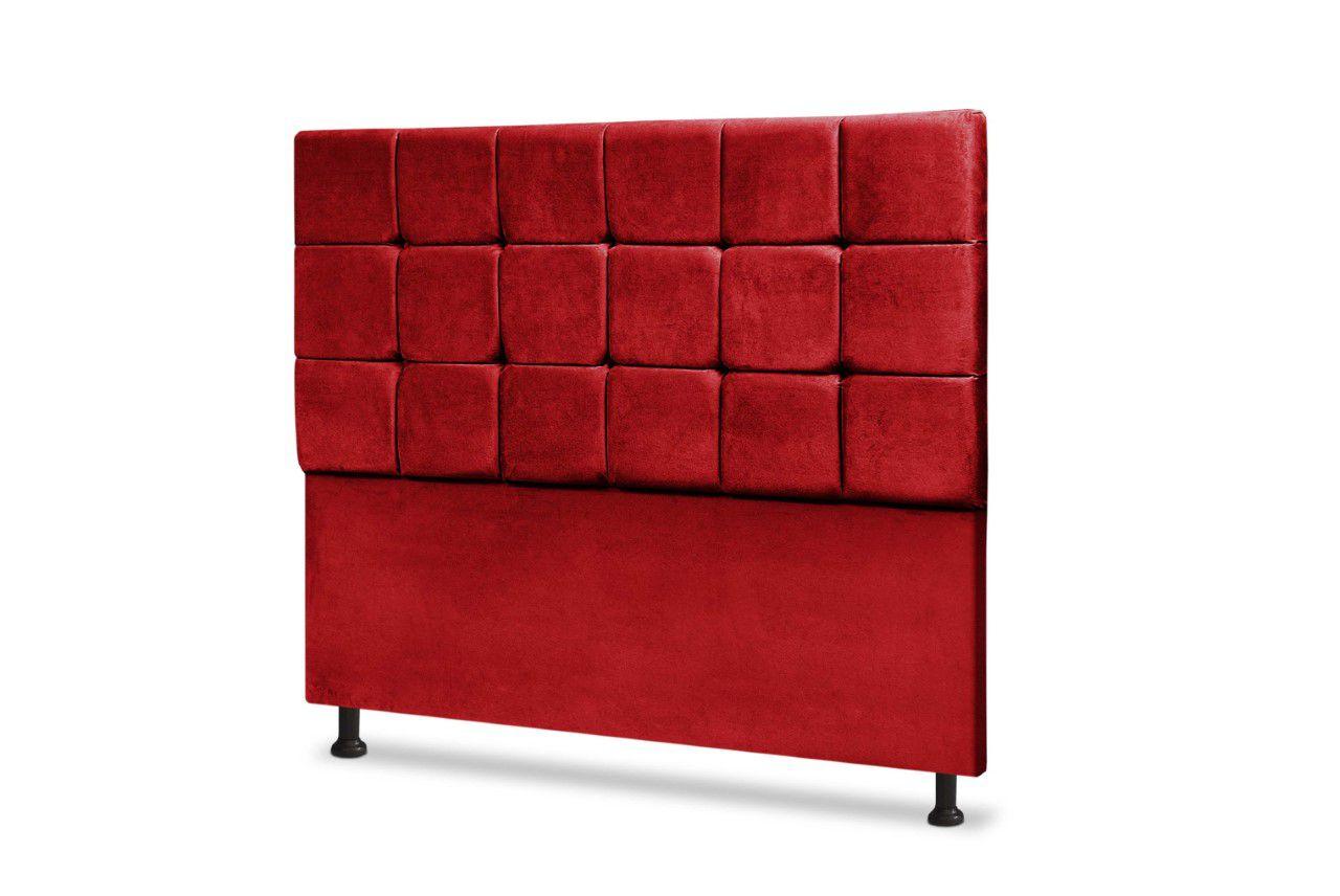 Cabeceira Espanha Vermelho 160cm Queen