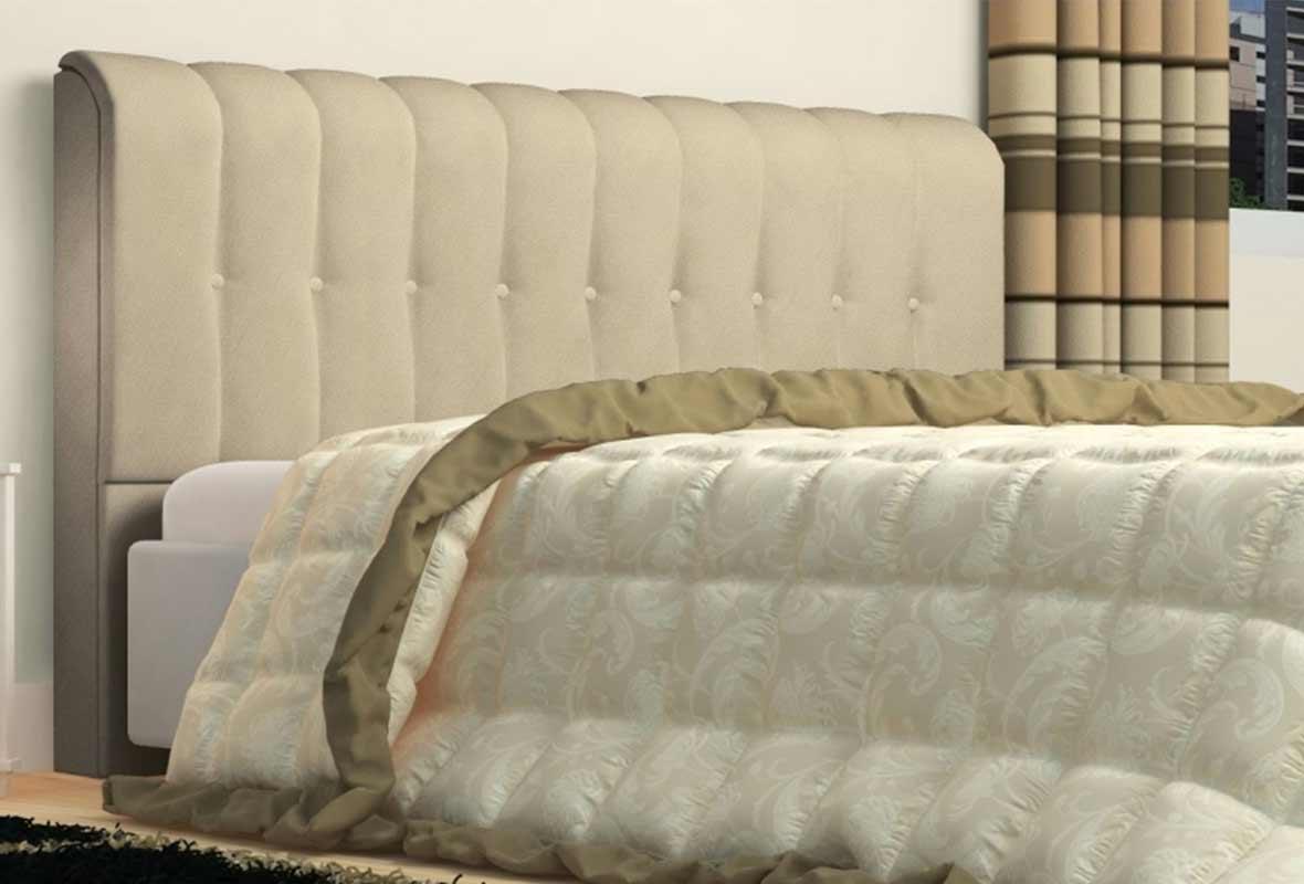 Cabeceira Kiara 160cm Bege Queen