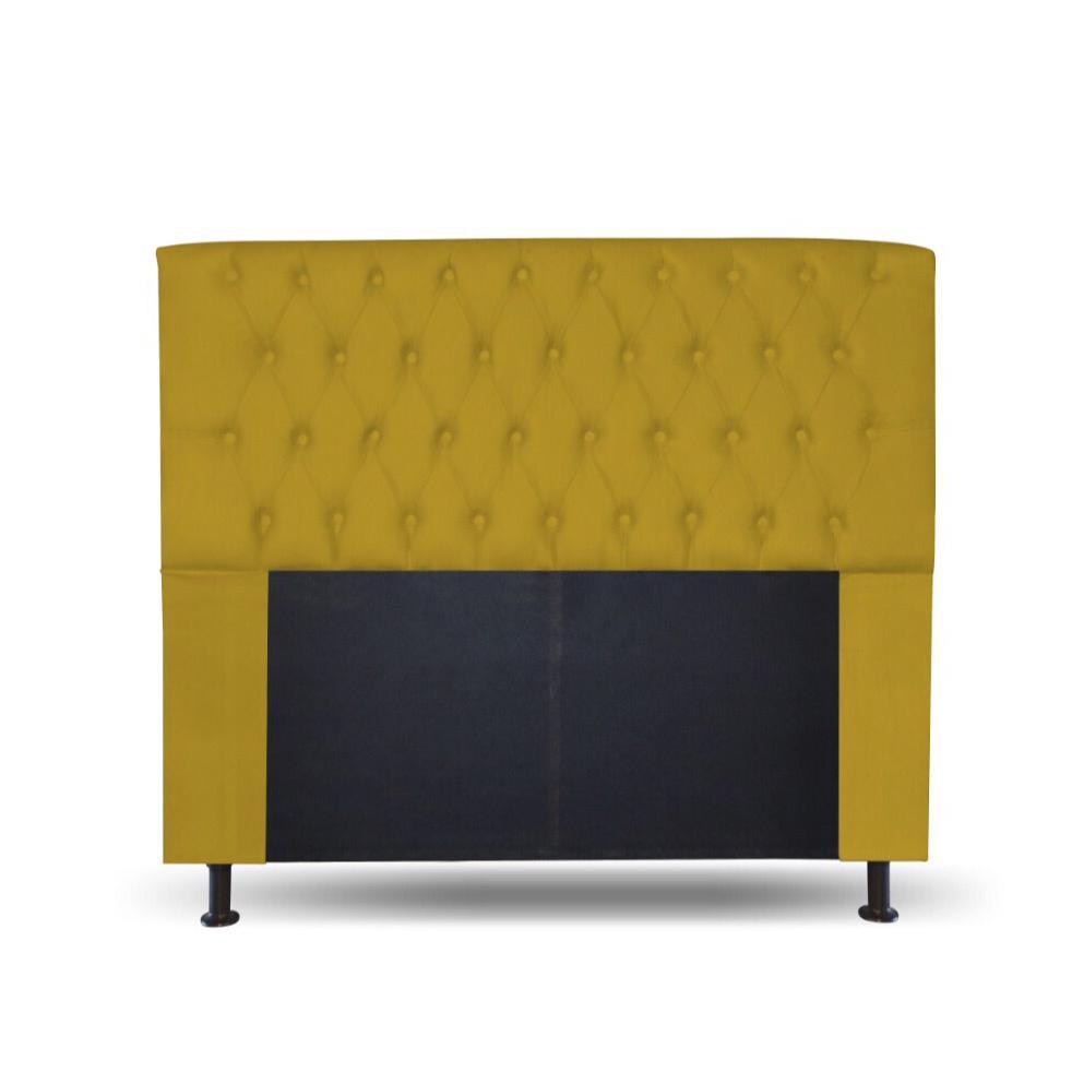 Cabeceira Lady Solteiro 90cm Amarelo