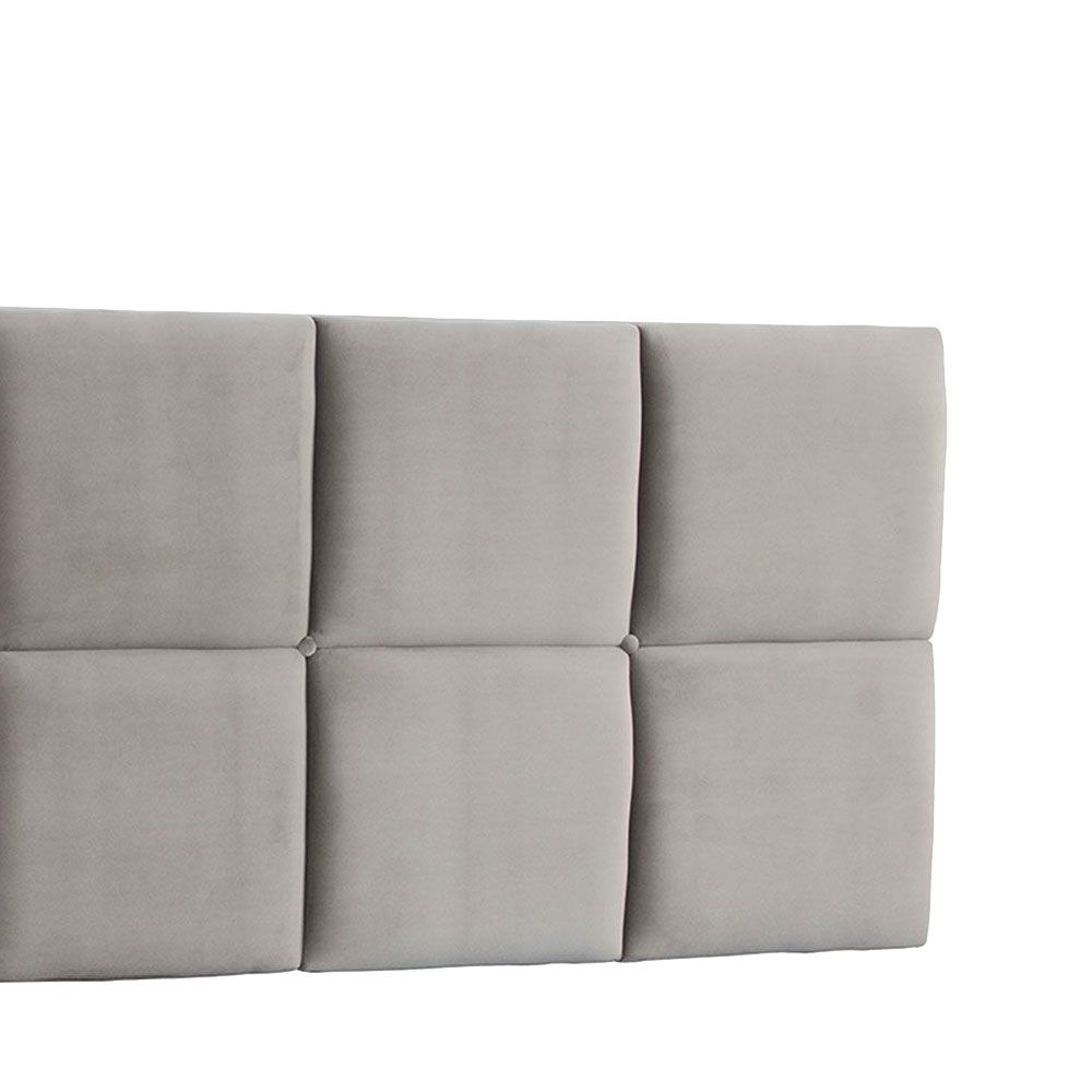 Cabeceira Painel Casal Poliana 140 cm Suede Bege