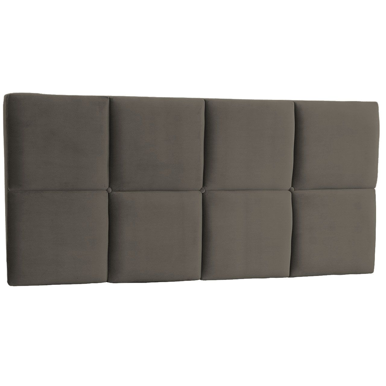 Cabeceira Painel Casal Poliana 140 cm Suede Cinza