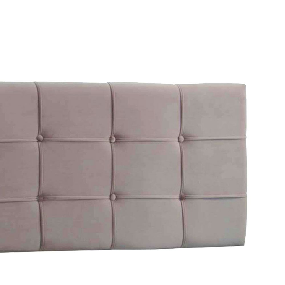 Cabeceira Painel King Ana Luisa 1,95 m Suede Bege