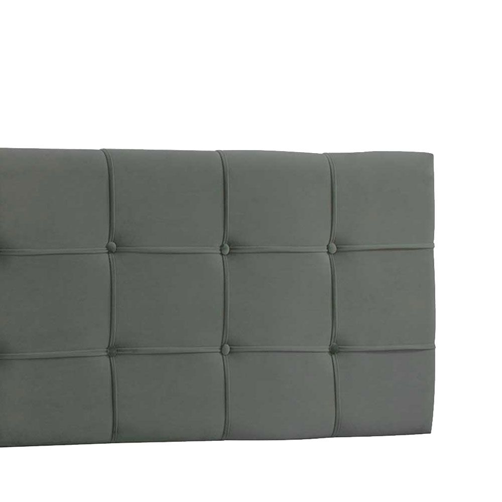 Cabeceira Painel King Ana Luisa 1,95 m Suede Cinza