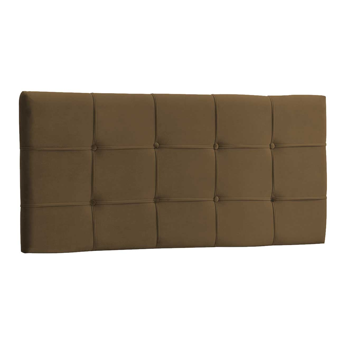 Cabeceira Painel King Ana Luisa 1,95 m Suede Marrom