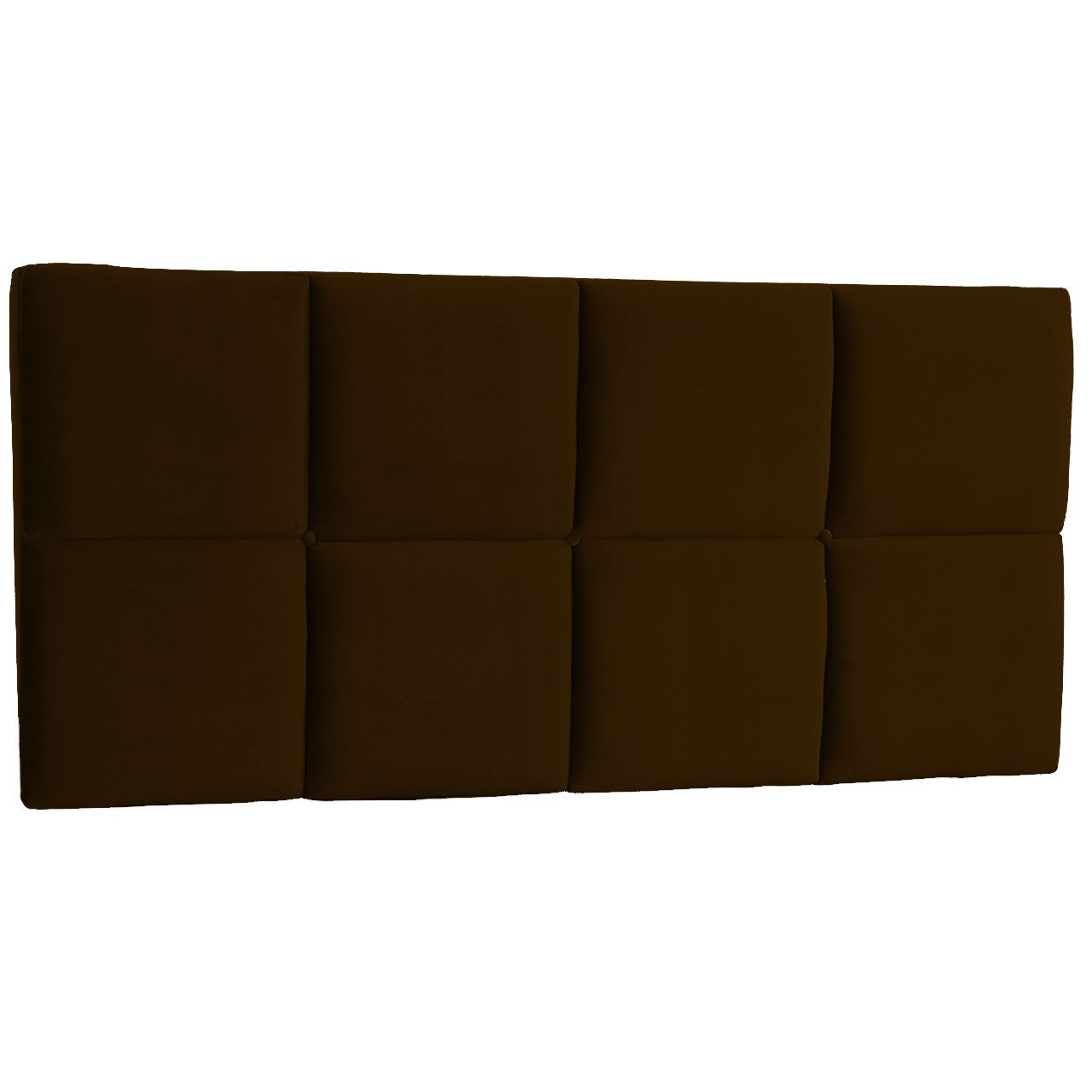 Cabeceira Painel King Poliana 1,95 m Suede Marrom