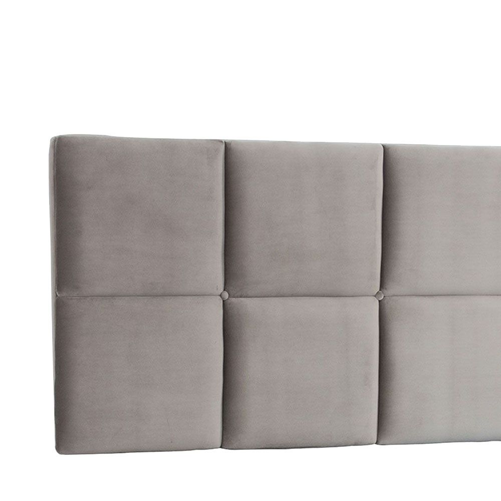 Cabeceira Painel Queen Poliana 1,60 m Suede Bege