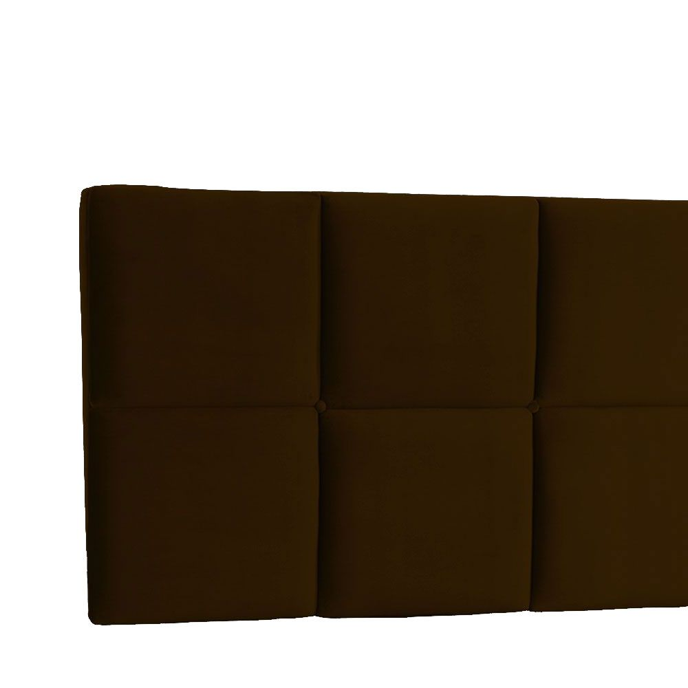 Cabeceira Painel Queen Poliana 1,60 m Suede Marrom
