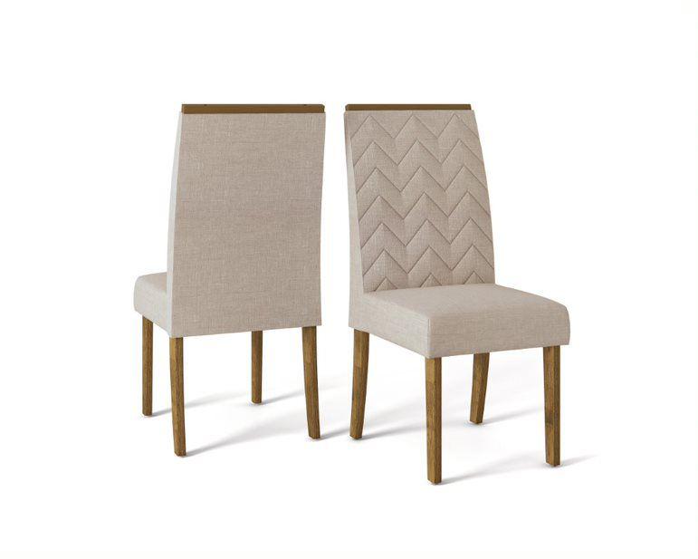 Cadeira De Jantar LAURA TELHA LINHO URBANO - CONJUNTO COM 2 CADEIRAS