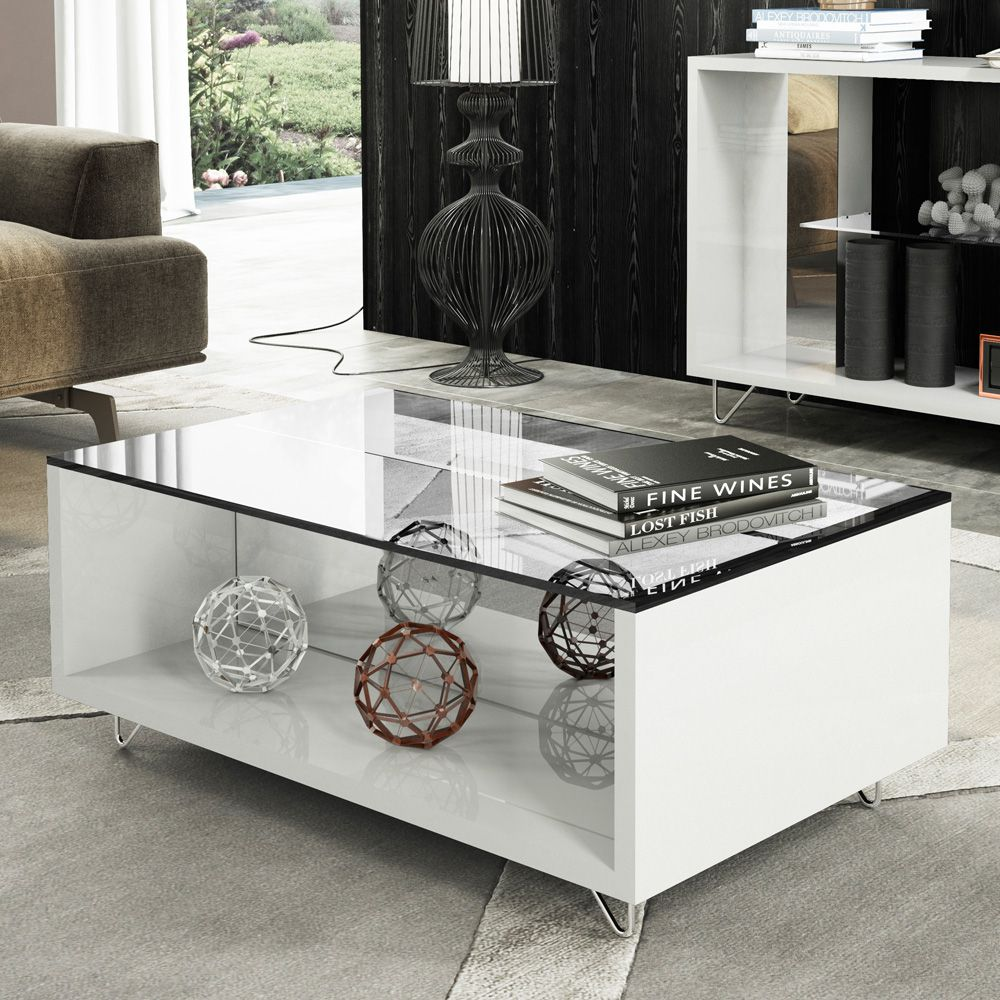 Mesa de Centro HB Móveis Charmy Branco - HB Móveis