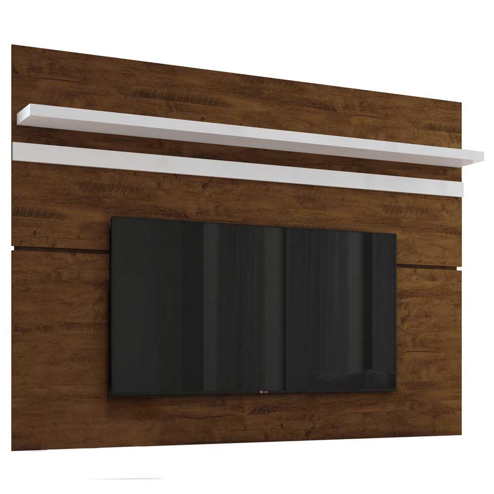 Painel para TV HB Móveis Venezza Canyon Branco - HB Móveis