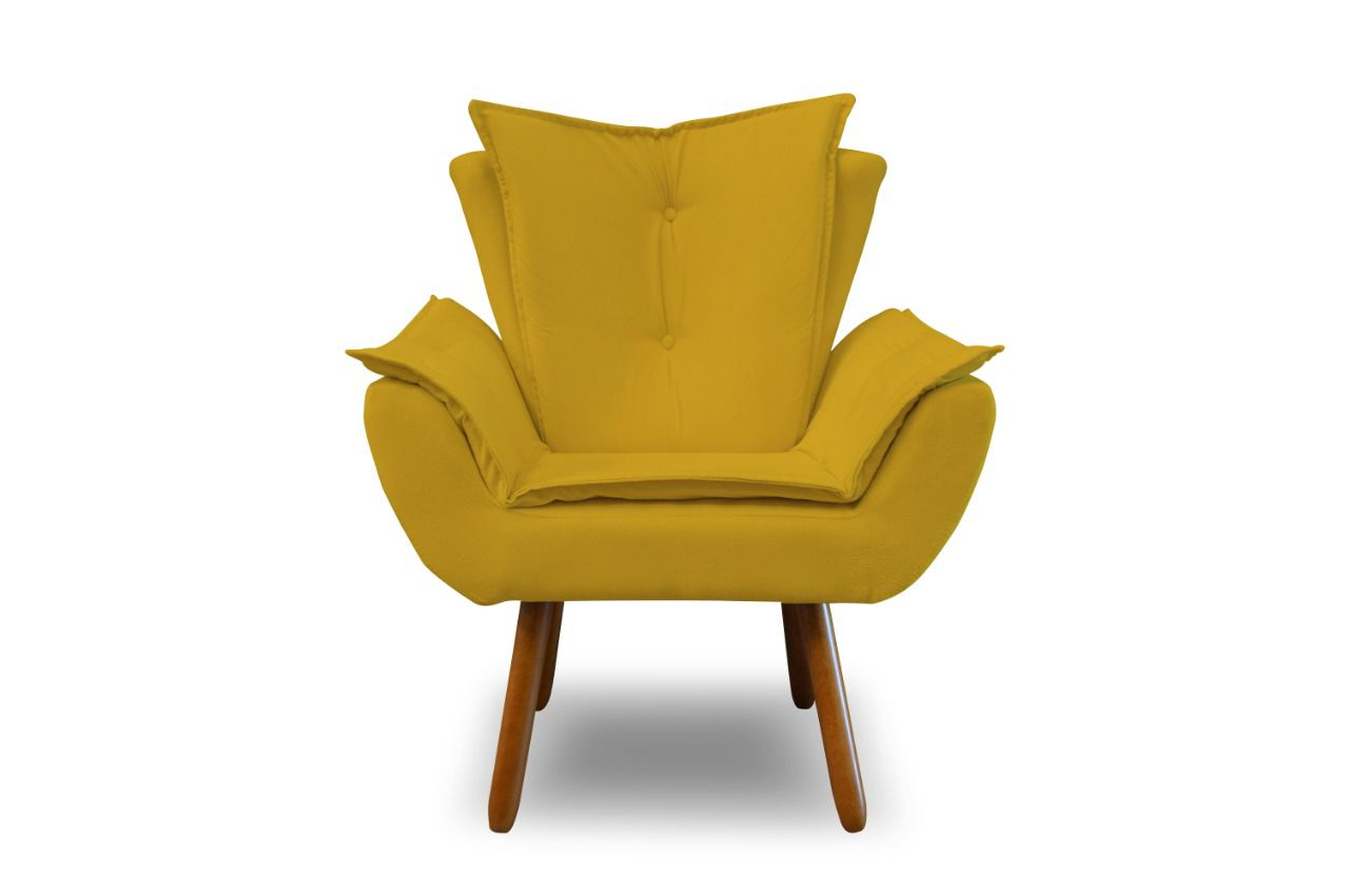 Poltrona Decorativa Betina Amarela