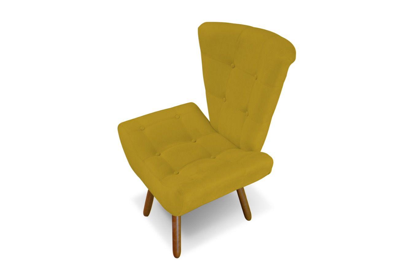 Poltrona Decorativa Diana Amarelo
