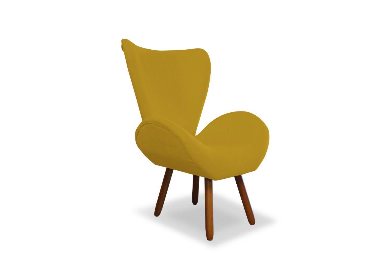 Poltrona Decorativa Ísis Amarelo