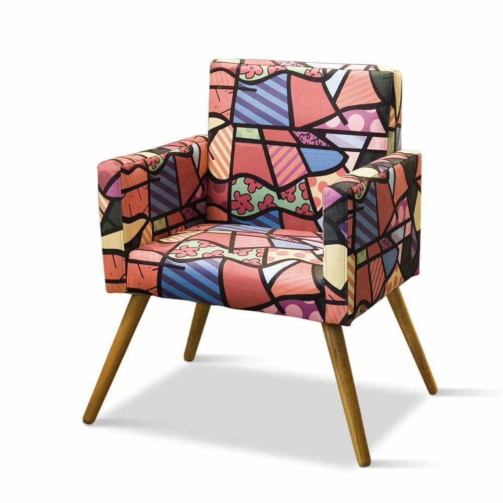 Poltrona Decorativa Larissa Romero Brito Colorido