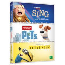 COLEÇÃO ILLUMINATION - MINIONS / A VIDA SECRETA DOS BICHOS / SING - DVD