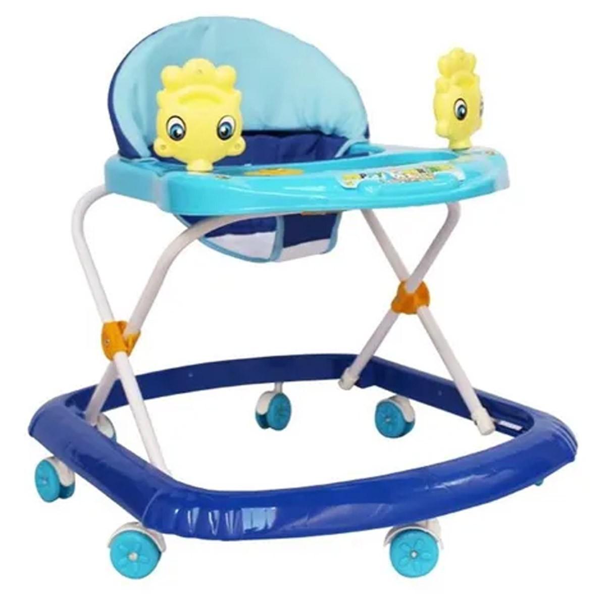 Andador Infantil Altura Regulável Com Som Importway Azul