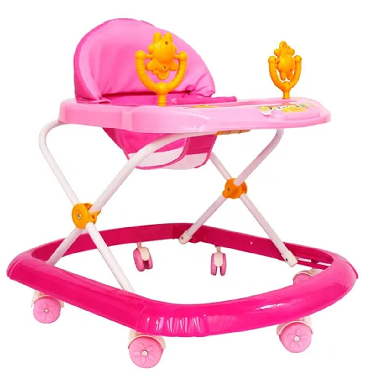 Andador Infantil Altura Regulável Com Som Importway Rosa