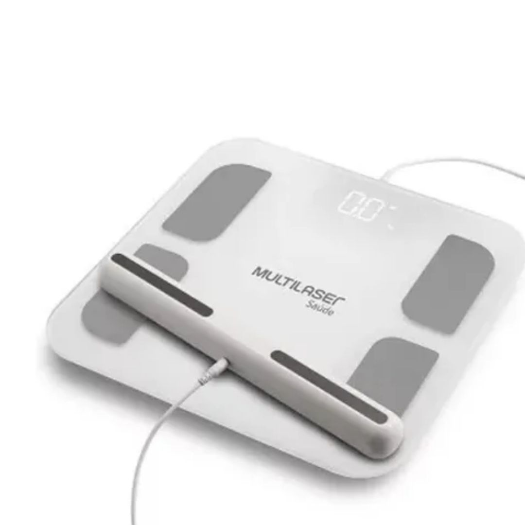 Balança De Bioimpedância Com Handle Bluetooth Multilaser