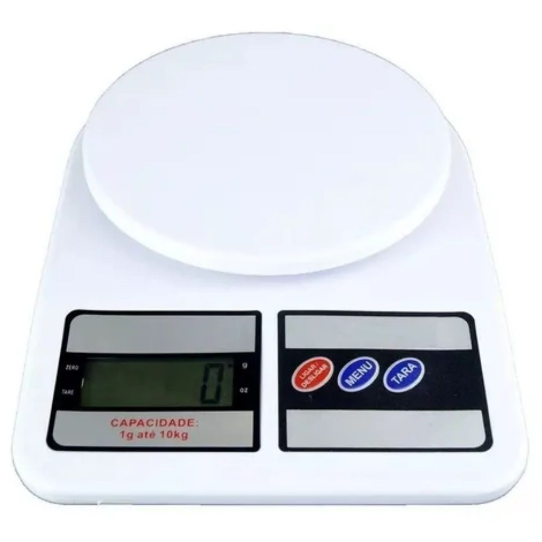 Balança De Digital De Cozinha 10kg Nutrição E Dieta Alimento
