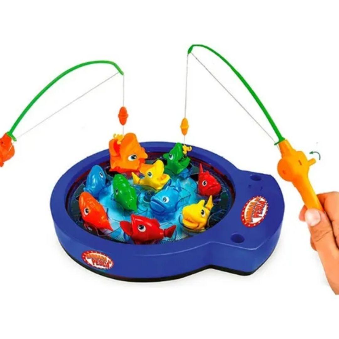 Brinquedo Pega Peixe Pescaria Barraca De Pesca Polibrinq