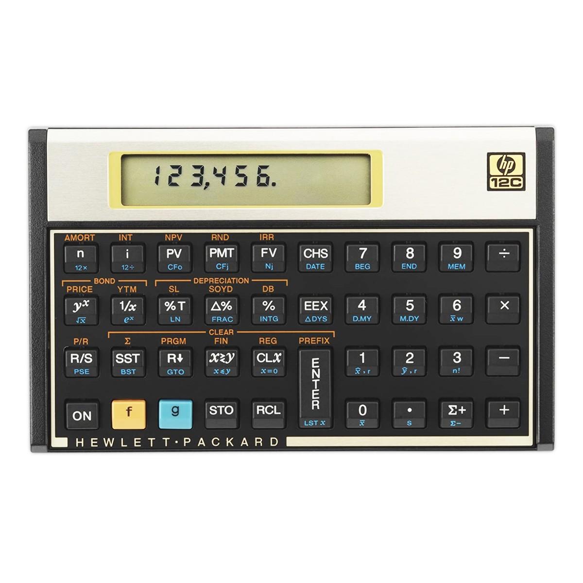 Calculadora Financeira Hp 12c Gold Original Com Manual Em Pt