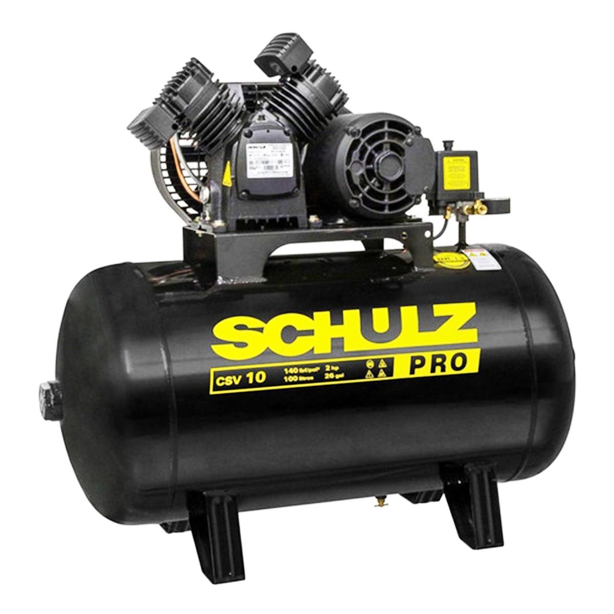 Compressor De Ar 10 Pés 100l 110 Mono Csv-10/100 Pro Schulz