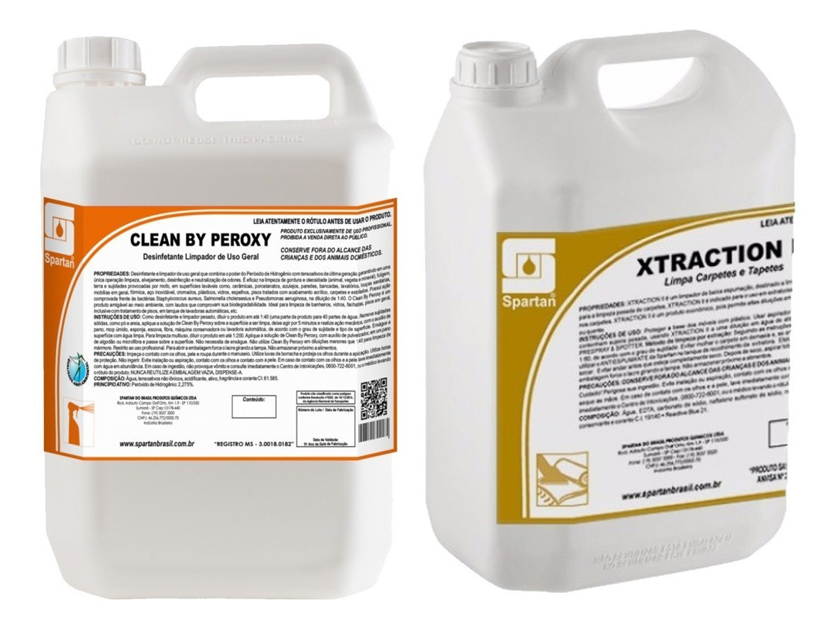 Detergentes Xtraction 5l + Clean Peroxy 5l