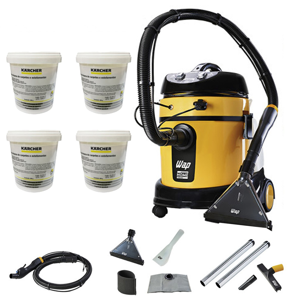 EXTRATORA WAP HOME CLEANER COM 4 DETERGENTES RM 760