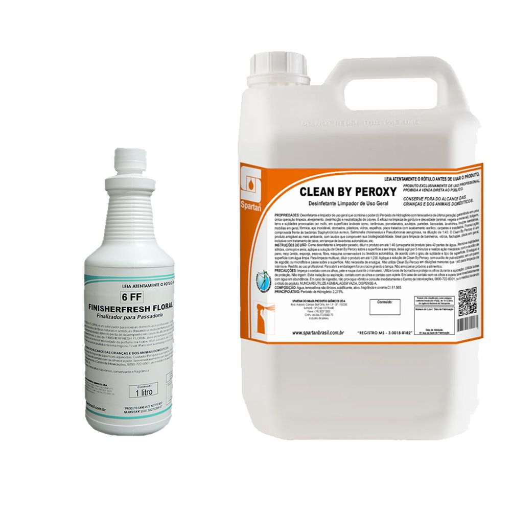 FINISHERFRESH BOUQUET 1 LITRO C/ CLEAN BY PEROXY 5 LITROS
