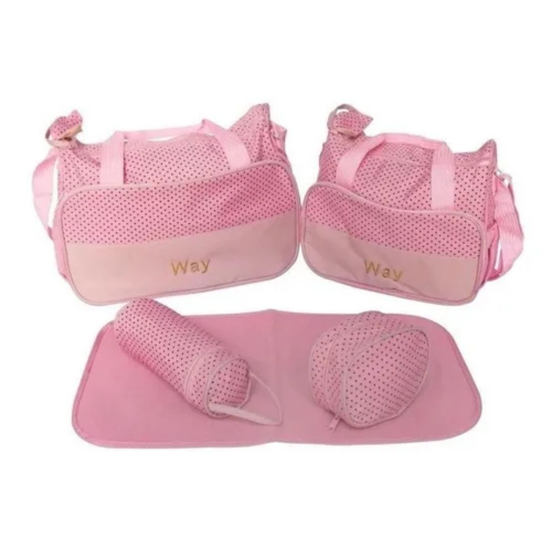 Kit Bolsa Maternidade Rosa Importway