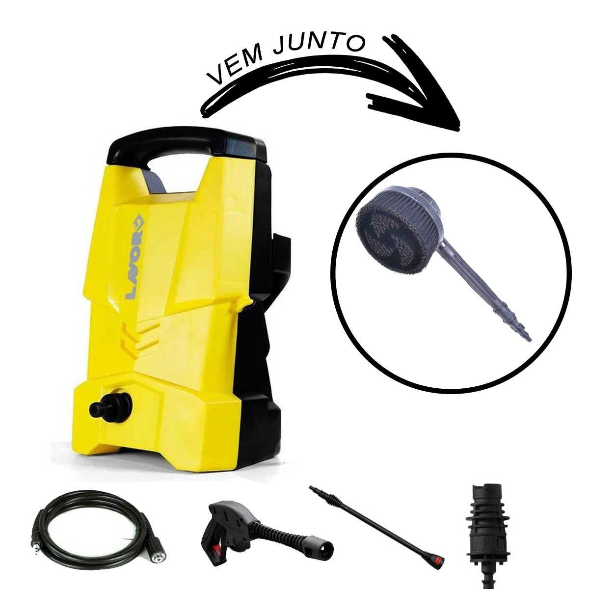 Lavadora De Alta Pressão Lavor One 120 Kit Auto