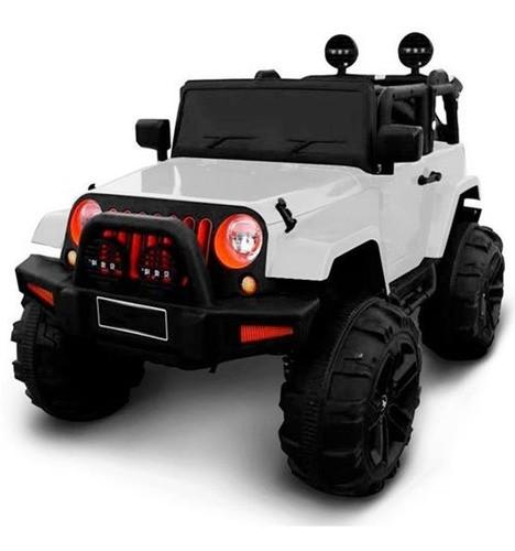 Mini Carro Elétrico Jeep Infantil 12v Com Controle Branco