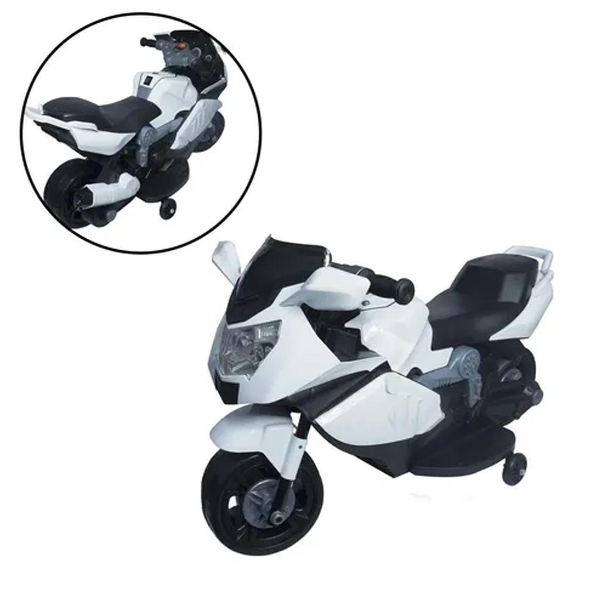Mini Moto Elétrica Infantil Branca Importway