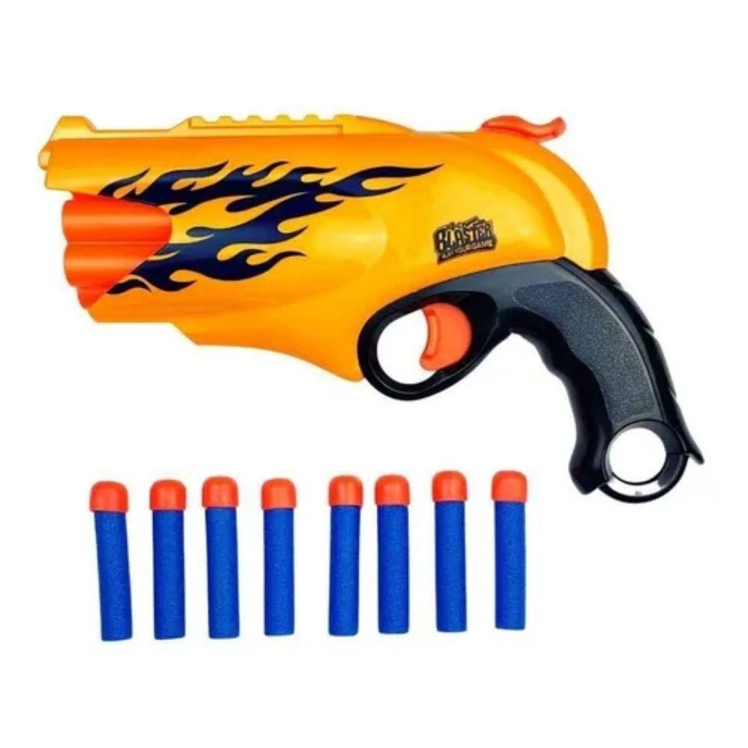 Pistola Lança Dardos Nerf Supershot Blaster Polibrinq