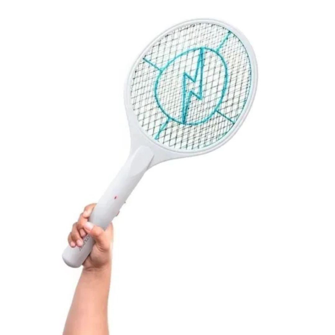 Raquete Elétrica Mata Insetos Mosquito Recarregável Bivolt