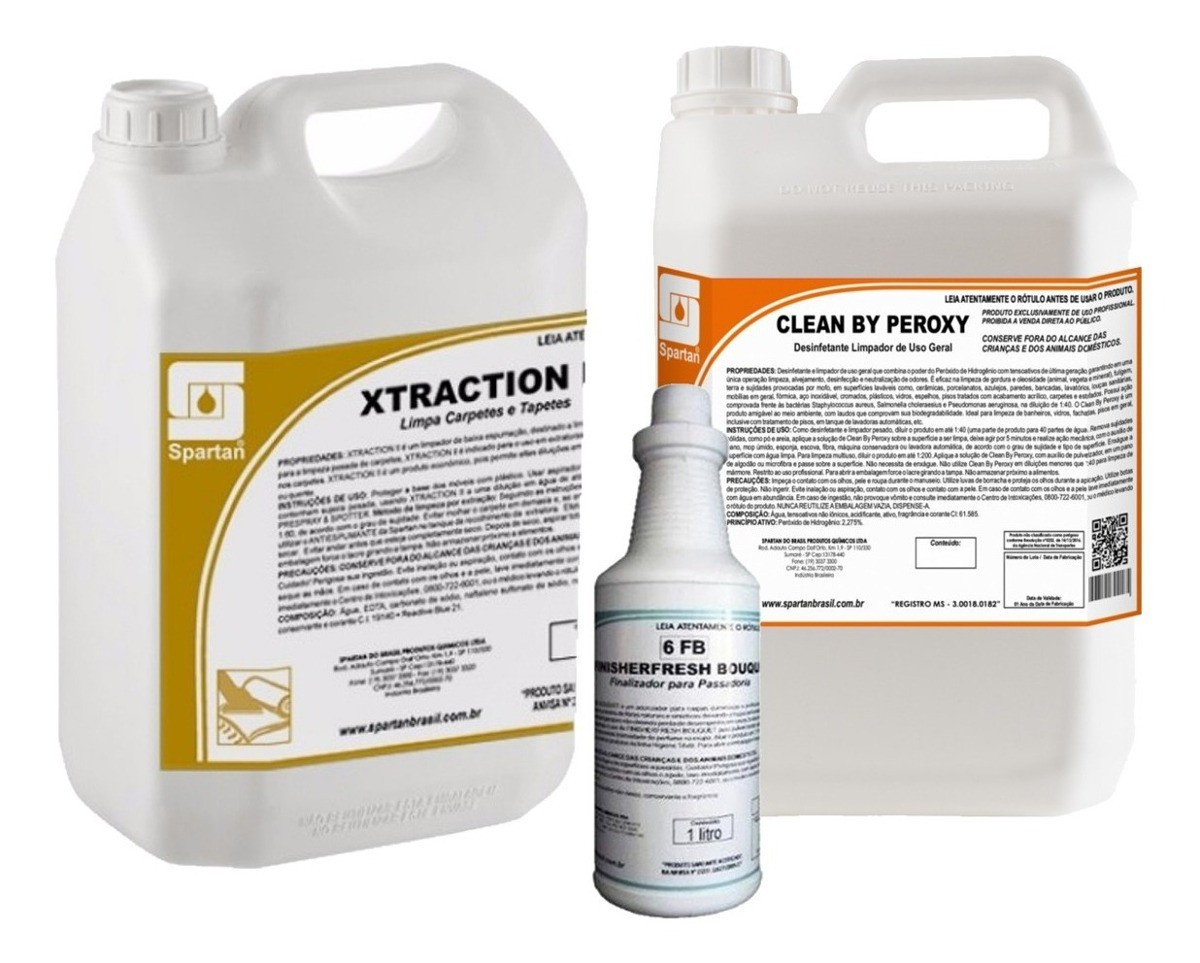 Xtraction - Ii 5 Litros C/ Clean By Peroxy 5 L E Finish Fresh 1l