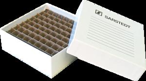 Caixa de Armazenagem em papelão para 81 microtubos de 1,5 a 2ml marca Sarstedt