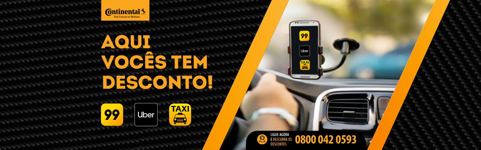 Desconto para Uber, 99 e Taxi