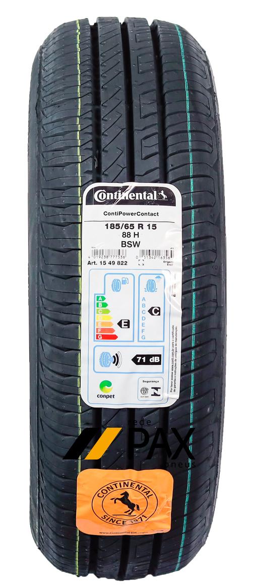 Pneu Aro 15 185/65R15 88H Continental Conti PowerContact