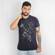 Camiseta Calvin Klein Jeans Flowers Marinho