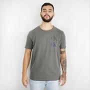 Camiseta Calvin Klein Jeans Logo CK Grafite