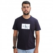 Camiseta Calvin Klein Jeans Logo Marinho