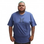 Camiseta Hurley Plus Size Logo Blue