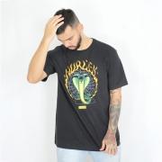 Camiseta Hurley Silk Snake Preta