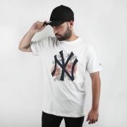 Camiseta New Era NY Floral Branco