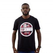 Camiseta New Era Plaid 59 Fifty Preta
