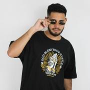 Camiseta Thug Nine God Bless Preta