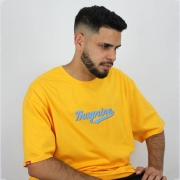 Camiseta Thug Nine Missing Amarela